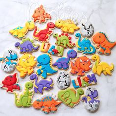 Image result for decorated dinosaur cookies