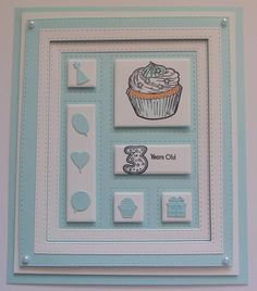 Inky Finger Zone: 3 Years Old Baby Cards, Kids Cards, Men's Cards, Card Templates, Shadow Box, Birthday Cards, Birthdays, Card Making, Sue Wilson