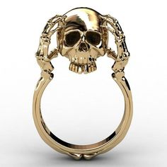 Head Scratching Skull Ring For Women