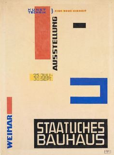 Herbert Bayer, Design for a Bauhaus Exhibition Poster, 1923 Herbert Bayer, Bauhaus Art, Bauhaus Design, Bayer Design, Bauhaus Building, House Architecture Styles, Laszlo Moholy Nagy, Harvard Art Museum, Tapestry Design