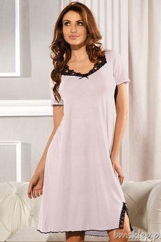 4903c3ce8db02e Koszula nocna wykonana z wiskozy i elastanu doskonale dopasowuje się do  ciała zapewniając najwyższy komfort noszenia