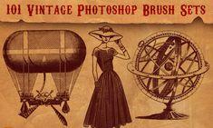 101 Fabulously Retro Vintage Photoshop Brush Sets