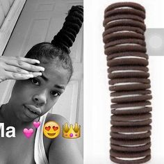 Edit: not making fun of her hair I'm laughing  at the fact they compared it to Oreos lol ppl are hilarious I would've never thought of that.   #BerryCurly #BerryCurly