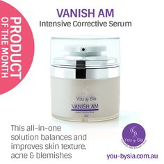 PRODUCT OF THE MONTH: VANISH AM is a powerful serum which employs a complex of botanicals, minerals and antioxidants to support acne prone skin while reducing excess oil during the day. Size: 50mL BUY NOW https://www.you-bysia.com.au/product/vanish-am/ #skincare #acne #blemishes @youbysia