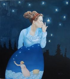 Secrets for the Stars - by emily c mcphie  > While I'm at it, here's another great painting by emily...