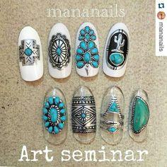 ☺ Indian Nail Designs, Nail Art Designs, 3d Nails, Matte Nails, Western Nail Art, Nail Art Modele, Indian Nails, Country Nails, Tribal Nails