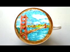 Brewed up a travel inspired #latteart for our travel-loving friends! Find your happy place with this #video #ecard. #WorldTourismDay