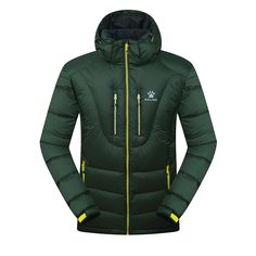(115.42$)  Know more - http://aikvt.worlditems.win/all/product.php?id=32778272387 - Kelme K46C5037 Men Long Sleeve Hooded Windproof Keep Warm Cotton Outdoor Sport Medium-long Down Jacket Dark Green