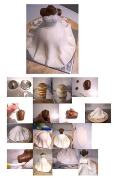 3d Wedding dress cake. Source: http://cakecentral.com/b/tutorial/how-to-make-a-3d-wedding-dress-cake . It is posted by Soepkip