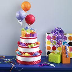 Fake Birthday Cake Centerpiece