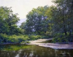 A Gentle Morning on the Lamoille River by Andrew Orr Oil ~ 9 x 12