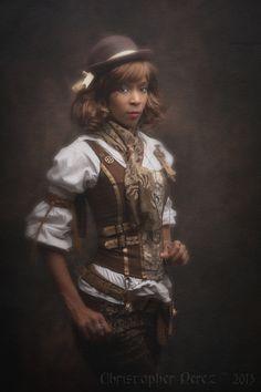 christophermarkperez: Fleur de péché ~ Steampunk Lolita I wouldn't call it lolita because she's not wearing a skirt with petti...