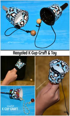 Recycled K Cup Craft Toy for Kids - Spielzeug Ideen K Cup Crafts, Vbs Crafts, Camping Crafts, Decor Crafts, Summer Camp Crafts, Summer Fun, Sport Craft, Kids Sports Crafts, Toy Craft