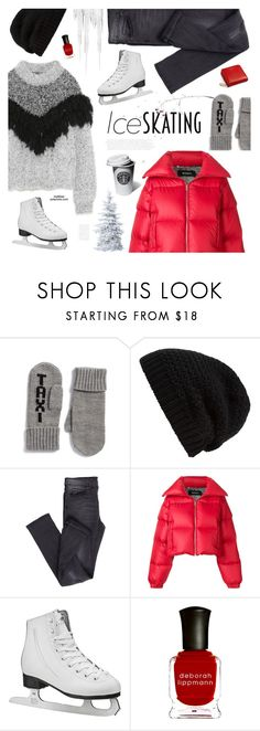 """""""Ice Skating Outfit"""" by mylkbar ❤ liked on Polyvore featuring Kate Spade, Rick Owens, Cheap Monday, MISBHV, Deborah Lippmann, Aspinal of London and iceskatingoutfit"""