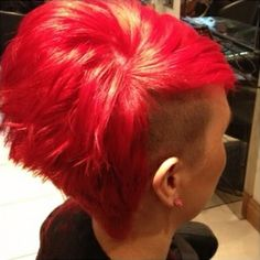 vibrant red #dyed #edgy hair #ghdSecrets