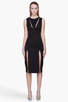 Hakaan Black Cut-out Maple Dress for women | SSENSE