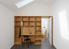 Apartment interiors with boxy wooden furniture by Big-Game