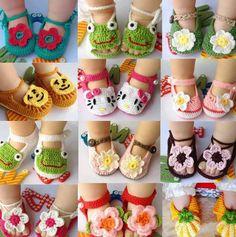 Crochet slippers @Kelsey Myers Myers Schank