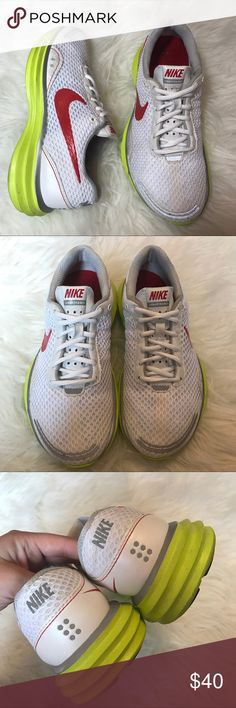 Nike Lunar Trainer+ Reflective Workout Sneakers In excellent used condition. Wear in mostly on the soles. Features lunarlite soles and reflective details. Nike+ pocket under the insole. $100 msrp. Very lightweight and perfect for running or the gym. Nike Shoes Athletic Shoes