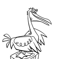 Disney Finding Nemo Stork Coloring Pages - Fun Stuff Finding Nemo Coloring Pages, Cool Coloring Pages, Disney Coloring Pages, Printable Coloring Pages, Couple Drawings, Disney Drawings, Cartoon Drawings, Disney Pixar, Cartoon Drawing Tutorial