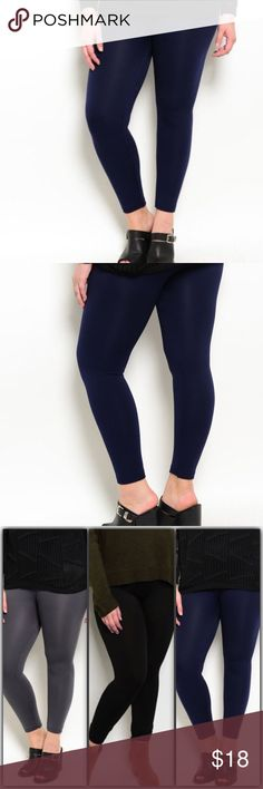 High waisted Fleece Leggings Navy Plus Size High waisted Fleece Leggings Plus Size,... 92% Nylon 8% Spandex. Other colors available as shown in the last picture Pants Leggings