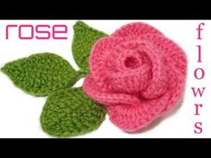 These gorgeous crochet roses are creative and decorative for many projects. This is a fun and easy method on how to crochet a rose! Crochet Leaves, Crochet Motifs, Crochet Doilies, Crochet Stitches, Love Crochet, Crochet Gifts, Beautiful Crochet, Easy Crochet, Double Crochet