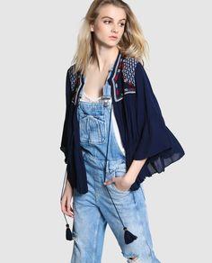 Blusa boho de mujer Pepe Jeans con cierre de cordón · Pepe Jeans · Moda · El Corte Inglés