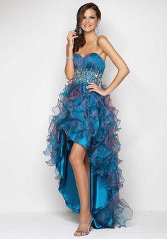 Dresse Peacock Prom Dress   Blush Dresses 9603 at Peaches Boutique
