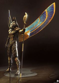 Gods of Egypt Concept Art by Jared Krichevsky Fantasy Creatures, Mythical Creatures, Tattoo Avant Bras, Egypt Concept Art, Foto Fantasy, Egyptian Tattoo, Egyptian Drawings, Egyptian Mythology, Egypt Art