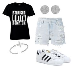 """""""Straight outta Compton!"""" by pierce-macaiyah ❤ liked on Polyvore featuring Ksubi, adidas and Karen Kane"""
