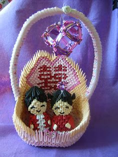 Jewellia handicrafts: my new design- 3D origami wedding ornament