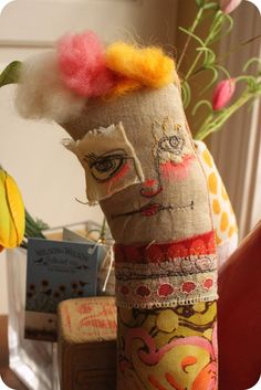 Hildie Sue........original tattered art doll by Mindy Lacefield. via Etsy.