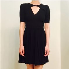 Asos keyhole cut out little black dress The perfect LBD! Super flattering bodice and unique neckline. Tagged a UK8 but fits like a US0. ASOS Dresses