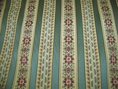 """54"""" wide FLORAL STRIPE UPHOLSTERY/DRAPERY FABRIC"""