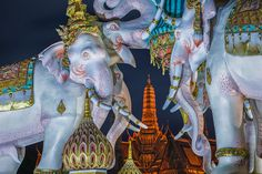 The Temple Guardians | Pink elephant statue outside the gates of the Grand Palace in Bangkok, Thailand.  www.peterstewartphotography.com   Follow my latest updates on:   Facebook  |    Google+  |   Instagram  |     Twitter  For image licensing or print enquiries, please contact me at: info@peterstewartphotography.com