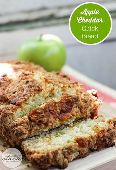 Apple Cheddar Quick Bread - tart apples + salty cheddar cheese is a perfect…