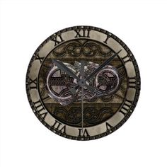 Viking Dragon Metal Style Wall Clocks