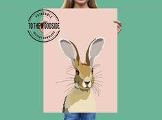 Peekaboo Bunny Rabbit Nursery Print Instant Download | Etsy