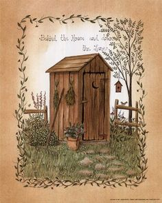 Behind the House by Linda Spivey art print