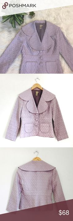 Lavender brocade jacket by elevenses Beautiful jacket in like new condition.  Beautiful detail.  Fully lined.  Functional front pockets.  Bundle for best deals. Anthropologie Jackets & Coats Blazers