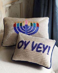 Good looking Hanukkah pillows. Finally! | Horchow