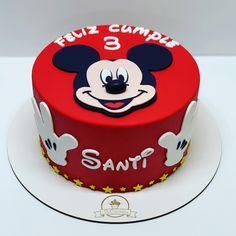 Baby Girl Birthday Cake, Mickey Mouse Birthday Cake, Mickey Mouse Cupcakes, Mickey Cakes, Mickey Party, 3rd Birthday, Fondant, Mickey Mouse Birthday Decorations, Dino Cake
