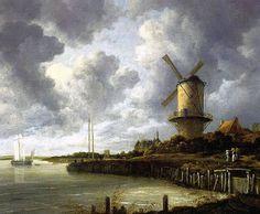 JABOB VAN RUISDAEL (1628-1682): Los contrastes de color son más visibles y le gustaba retratar