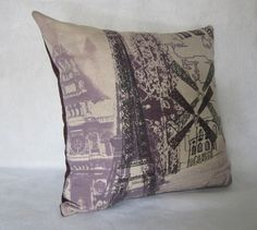 Decorative Pillow Cover in Eifel Tower and by PillowLoftHomeDecor