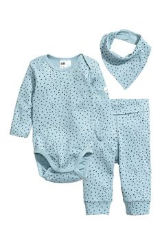 7f2bc97848 Set with bodysuit and leggings in organic cotton jersey with