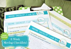 6+Week+Moving+Calendar++How+To+Move+Yourself+by+TipJunkie+on+Etsy,+$4.95