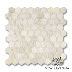 Ready to ship 3cm Hex pattern shown in polished Cloud Nine.