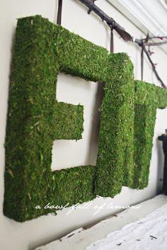 Moss Covered Letters New Love Of Family & Home Diy Moss Covered Monogram Tutorial Decorating Design