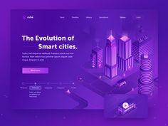 Smart cities - Concept 1 by Walid Beno - Dribbble Adobe Cc, Web Mobile, City Logo, Isometric Design, Responsive Layout, Ui Web, Web Design Trends, Smart City, Web Design Company