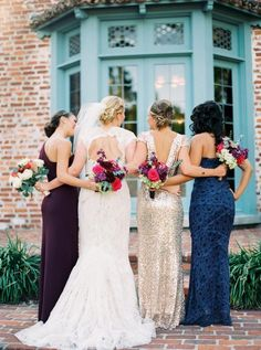 burgundy and navy bridesmaid dresses